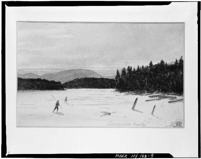 R.H. Robertson, watercolor, ca. 1915. Lake Sanford winter. Library of Congress collection.