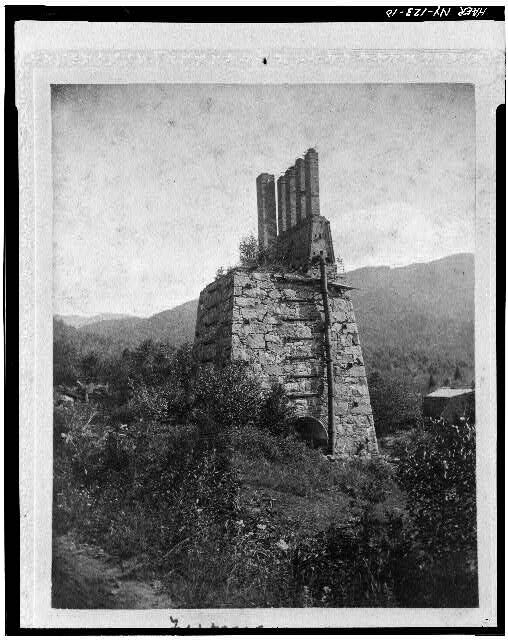 The Mcintyre blast furnace was built in 1854. This photo was taken around 1900.