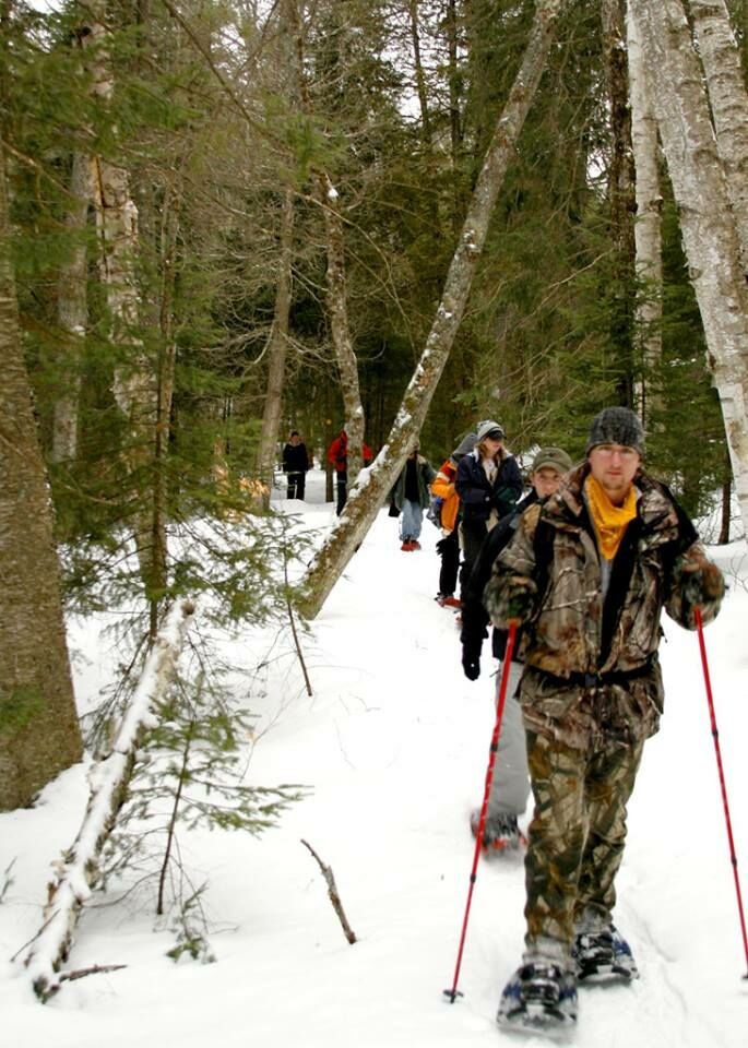 The AIC makes for great snowshoeing. Image courtesy of Newcomb AIC.