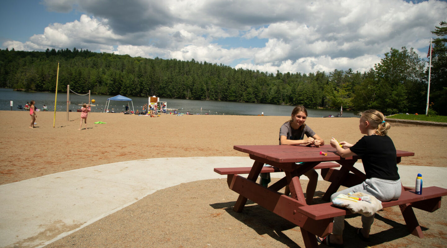 Donnelly Beach has camping and recreation facilities.